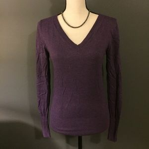 Mossimo Purple V-Neck Long Sleeve Sweater